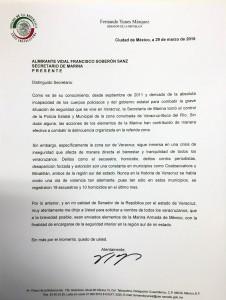 CARTA AL SECRETARIO DE MARINA