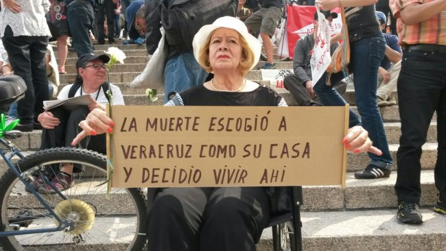 Resultado de imagen para Manifestación en Veracruz por violencia